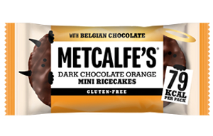 Metcalfes Mini Ricecakes - Dark Chocolate Orange - 16x16g