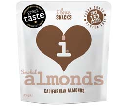 I Love Snacks - Smoked Almonds - 15x25g