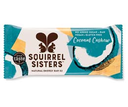 Squirrel Sisters Raw Snack Bar - Coconut Cashew - 16x40g