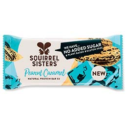 Squirrel Sisters Raw Snack Bar - Peanut Caramel - 16x40g