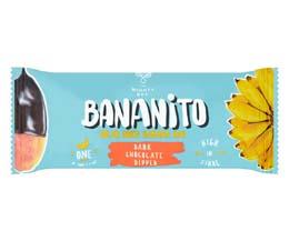 Bananito Bar - Dark Chocolate Dried Banana - 20x25g