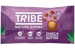 Tribe - Nature Bomb - Choc & Hazelnut Butter -12x40g