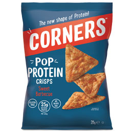 Corners Pop Protein Crisps - Sweet Barbeque - 18x28G