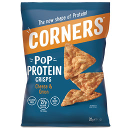 Corners Pop Protein Crisps - Cheese & Onion - 18x28G