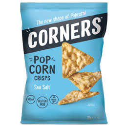 Corners Popcorn Crisps - Sea Salt - 18x28g