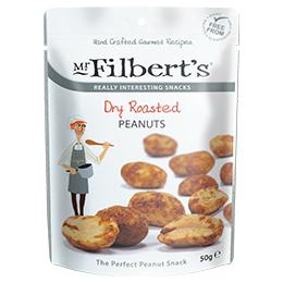 Filberts - Dry Roasted Peanuts - 12x50g