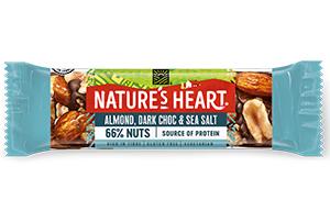 Natures Heart  - Almond, Dark Choc & Sea Salt Bar - 12x35g