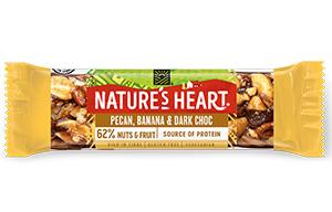 Natures Heart - Pecan, Banana & Dark Choc Bar - 12x35g