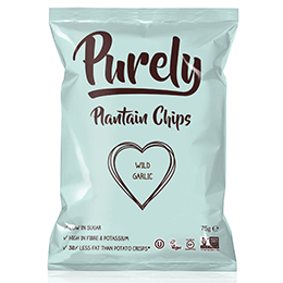 Purely Plantain Chips - Wild Garlic - 24x75g