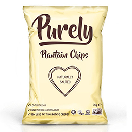 Purely Plantain Chips - Naturally Salted - 24x75g