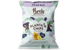 Purely Plantain Chips - Wild Garlic - 20x28g