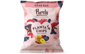 Purely Plantain Chips - Nice & Spicy - 20x28g
