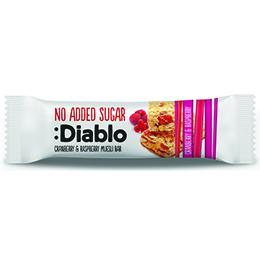 Diablo - No Added Sugar Cranberry & Raspberry Museli Bar - 28x30g