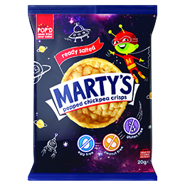 Martys Chickpea Crisps - Salted - 18x20g