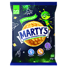 Martys Chickpea Crisps - Cheese & Onion - 18x20g