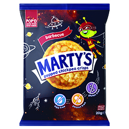 Martys Chickpea Crisps - BBQ - 18x20g