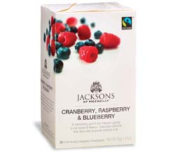 Jacksons Of Piccadilly Enveloped - F/T Raspberry, Cranberry &  Blueberry - 4x20