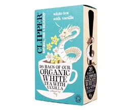 Clipper Teabags - Organic White Tea & Vanilla - 6x26