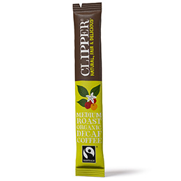 Clipper Sticks - F/T Organic Instant Arabica Decaff Coffee - 1x200