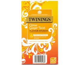Twinings Enveloped - 216 Pyramid - Citrus Ginger Twist - 4x20