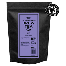 Brew Tea Bags - Co2 Decaffeinated Tea - 1x50 Black Bag