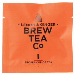 Brew Tea - Env Tea Bags - Lemon & Ginger - 1x100 Box