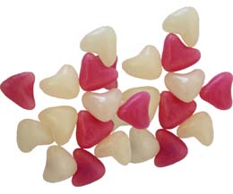 Pink & White Heart Jelly Beans - 3kg Bag